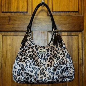 Coach Madison Ocelot Leopard Shoulder Bag Hobo